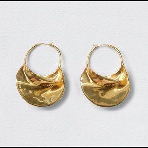 Swirl Large Hoop Earrings - NEW